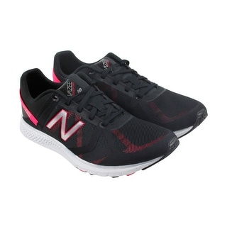 New Balance Entrainment Womens Black Textile Athletic Lace Up Training Shoes