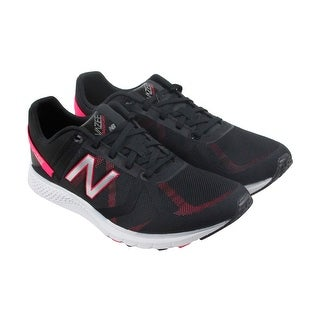 New Balance Entrainment Womens Black Textile Athletic Lace Up Training Shoes