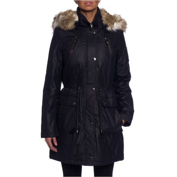Laundry By Shelli Segal Waxed Cotton Parka