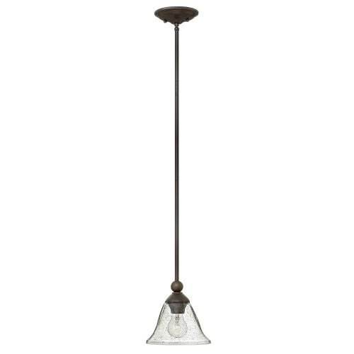 Hinkley Lighting 4667-CL 1 Light Single Mini Pendant with Clear Seedy Glass Shades from the Bolla Collection
