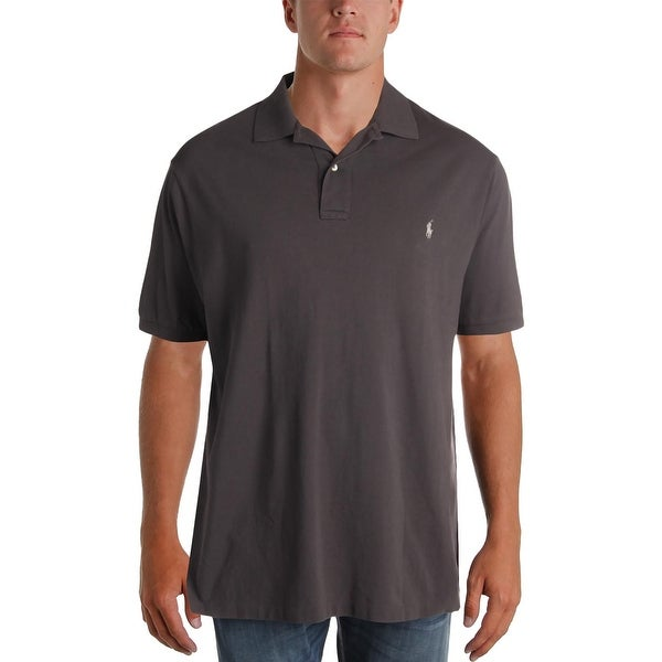 390bb7ce Shop Polo Ralph Lauren Mens Big & Tall Polo Shirt Big Tall Weathered Mesh -  2xlt - Free Shipping Today - Overstock - 23536056