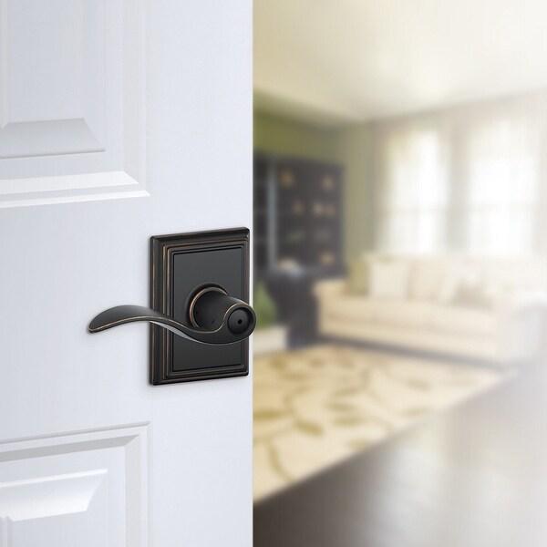 Nickel Schlage F40-ACC-ADD Accent Privacy Door Lever Set