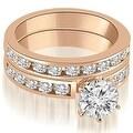 2.30 cttw. 14K Rose Gold Classic Channel Set Round Cut Diamond Bridal Set - Thumbnail 0