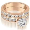 2.55 cttw. 14K Rose Gold Classic Channel Set Round Cut Diamond Bridal Set - Thumbnail 0