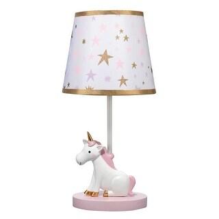 Bedtime Originals White Rainbow Unicorn Lamp with Shade & Bulb