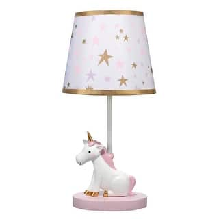 Bedtime Originals White Rainbow Unicorn Lamp With Shade Bulb