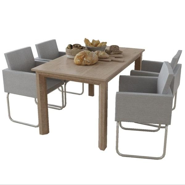 Shop VidaXL Dining Chairs 4 Pcs Fabric Light Gray