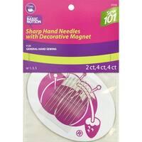 Dritz Sewing 101 Sharp Hand Needles W/ Decorative Magnet-Assorted 10/Pkg