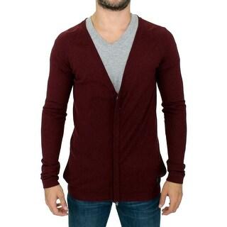 Costume National Costume National Bordeaux zipper cardigan sweater