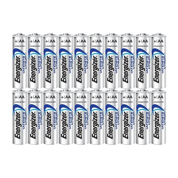 Energizer Ultimate Lithium AA Size Batteries - 20 Pack Bulk Packaging