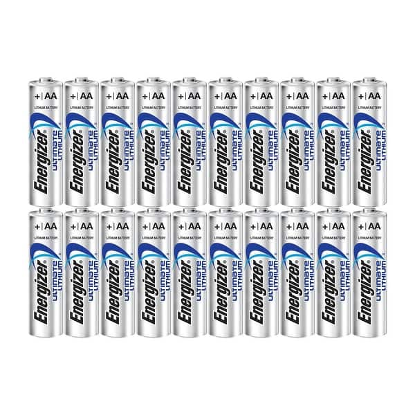 Energizer Ultimate Lithium Aa Size Batteries 20 Pack Bulk Packaging On Sale Overstock 13468603