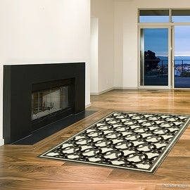 "Allstar Brown / Beige Luxury Exotic Chenille Base Woven Contemporary Modern Area Rug (5' 2"" x 7')"