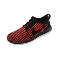 Nike Men's Roshe Two Flyknit Black/Black-Bright Crimson-White 844833-006