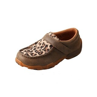 Twisted X Casual Shoes Kids Red Buckle Mocs Bomber Leopard CDM0004