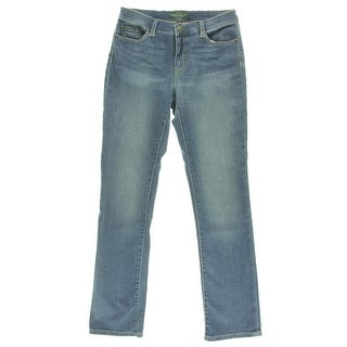 LRL Lauren Jeans Co. Womens Perry Wash Classic Straight Leg Jeans