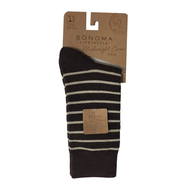 2e73751f460d Shop SONOMA Life + Style Women's 1-Pair Merino Wool Midweight Crew Socks -  9-11 - Free Shipping On Orders Over $45 - Overstock - 25635057