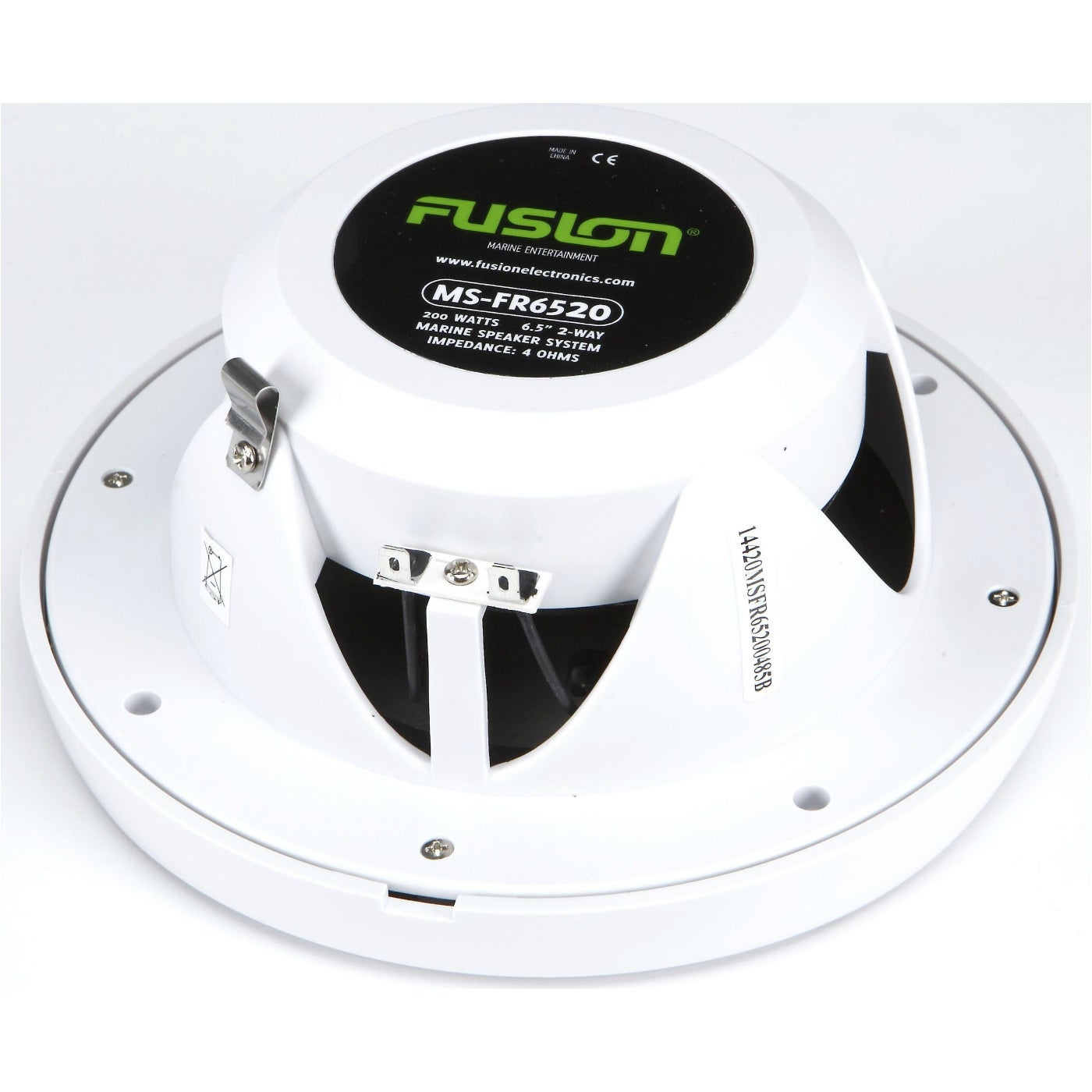 """FUSION 6.5/"""" Round 2-Way Speakers Pair White 200W -"""