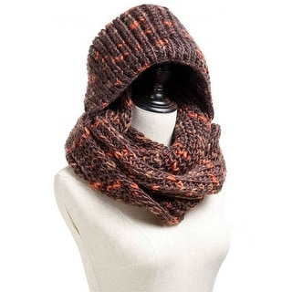 Mad Style Brown Hoodie Knit Infinity Scarf