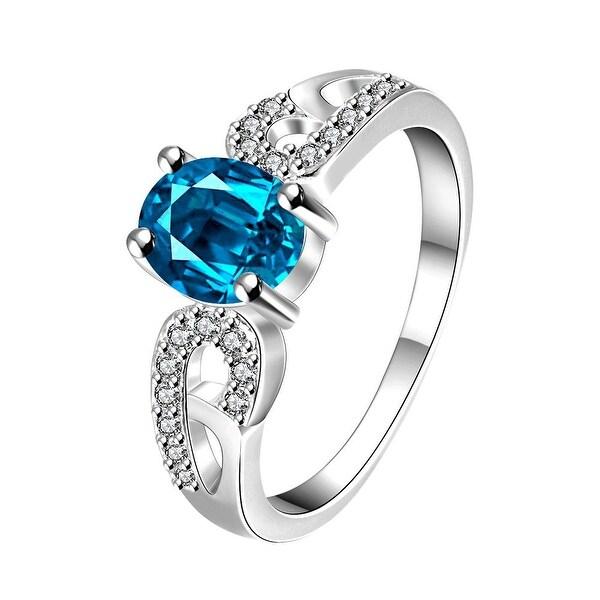 Petite Light Sapphire Laser Cut Petite Ring