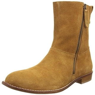 Modern Vintage Womens Brixton Ankle Boots Suede Double Zip