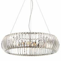 """Designers Fountain 90035 Allure 4-Light 24"""" Wide Single Tier Drum Chandelier with Crystal Accents - Chrome"""