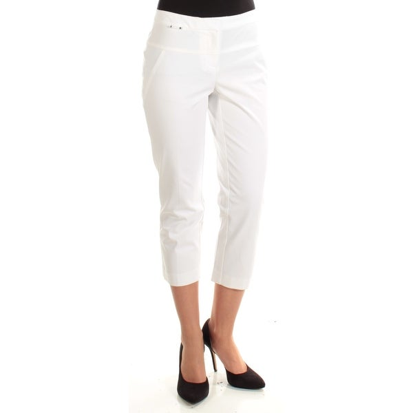 ad20d2fcc2f2b Shop Womens White Wear To Work Capri Pants Plus Size 18 - Free Shipping On  Orders Over  45 - Overstock - 23454897