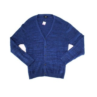 Alfani NEW Neo Blue Mens Size 2XL Knit Cardigan Button-Front Sweater