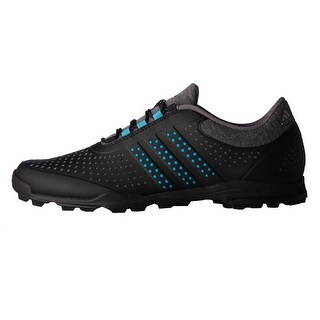 New Adidas Women's Adipure Sport Dark Grey Heather/Energy Blue/Core Black Golf Shoes Q44742