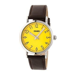 Crayo Pride Unisex Quartz Watch, Genuine Leather Band, Luminous Hands