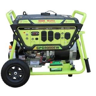 Green Power 8000-Watt Gas Generator, Elec. Start w/Battery, LCT Engine - N/A