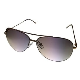 Perry Ellis Mens Sunglass PE66 3 Gold Metal Aviator with Brown Gradient Lens