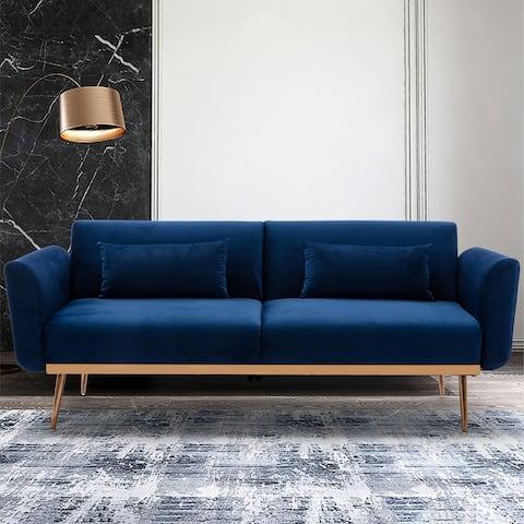 Velvet Convertible Sleeper Sofa