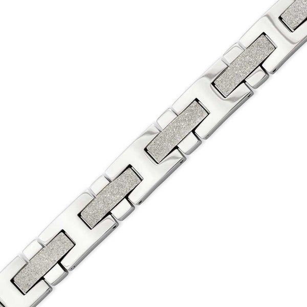 Stainless Steel Polished & Laser Cut 8.5in Bracelet