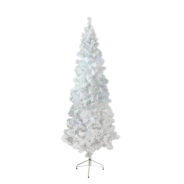 "7.5' x 36"" Pre-Lit White Winston Pine Artificial Christmas Tree - Multi LED Lights"