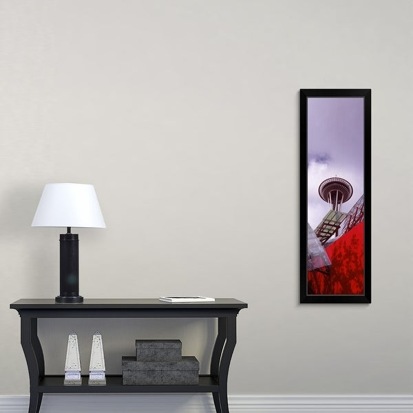 """""""Low angle view of a tower Space Needle Seattle King County Washington State"""" Black Framed Print"""