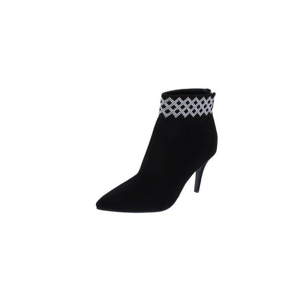 Caparros Womens Elle Ankle Boots Rhinestone Pointed Toe