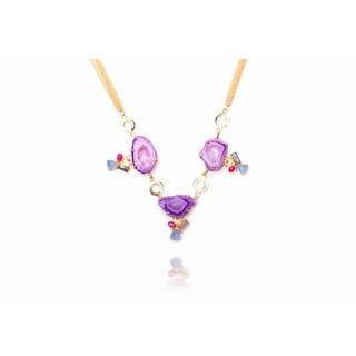 Gallivanting in the City Necklace in Purple
