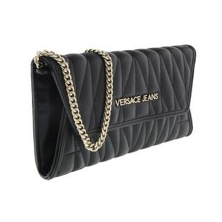 Versace EE3VQBPY3 E899 Black Wallet On Chain - 8-4-1