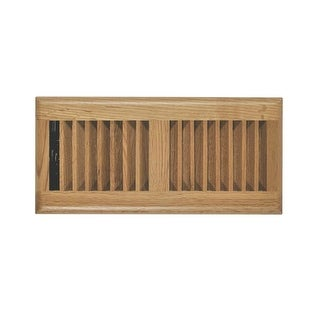 """Imperial RG2240 Light Oak Louvered Floor Register, 2-1/4"""" x 12"""""""