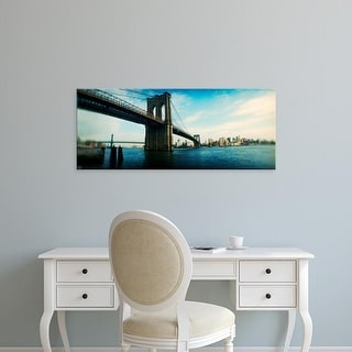 Easy Art Prints Panoramic Images's 'Brooklyn Bridge, East River, Brooklyn, New York City, New York State' Canvas Art
