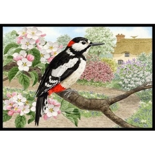 Carolines Treasures ASA2175JMAT Woodpecker Indoor or Outdoor Mat 24 x 36