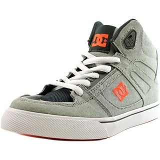 DC Shoes Spartan High Tx Youth  Round Toe Canvas Gray Skate Shoe