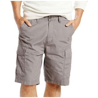 "Levis Straight Fit Flat Front Cargo Shorts 31 Waist Pewter Grey 9.5"" Inseam"