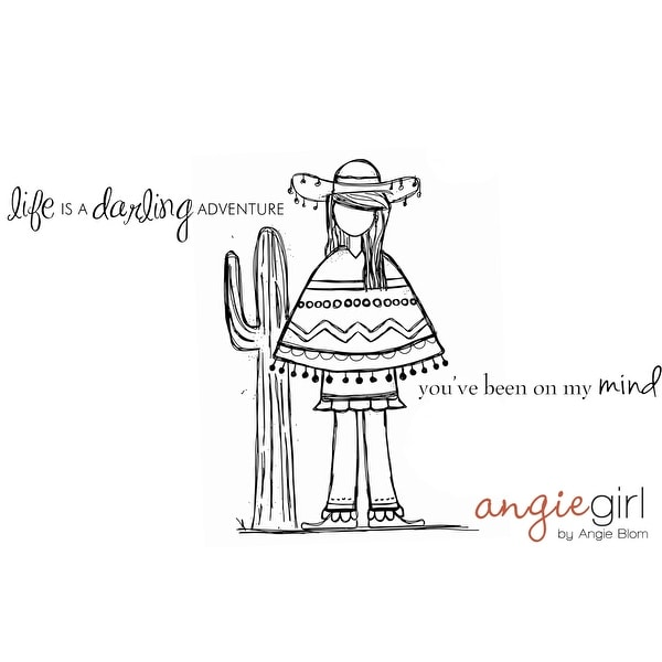 """Cling Rubber Stamps 4.5""""X4.5""""-Debby Girl - Red"""