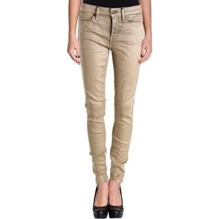 Calvin Klein Jeans Womens Jeggings Metallic Coated