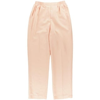 Alfred Dunner Womens Pull On Solid Straight Leg Pants - 18