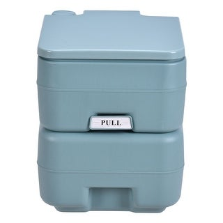 Costway Outdoor Camping Hiking Portable Toilet Flush Potty