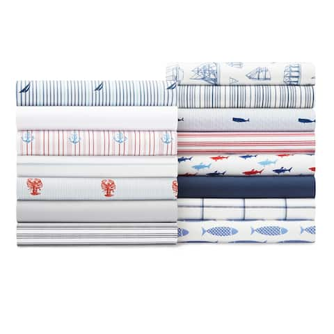 Nautica Cotton Percale Deep Pocket Bed Sheet Sets
