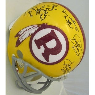 Washington Redskins Quarterback Legends Autographed Full Size Helmet