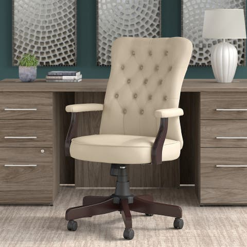 Bush Business Furniture Arden Lane High Back Tufted Office Chair with Arms